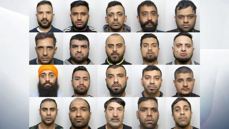 Huddersfield grooming gang: 20 men found guilty of raping and abusing young girls.